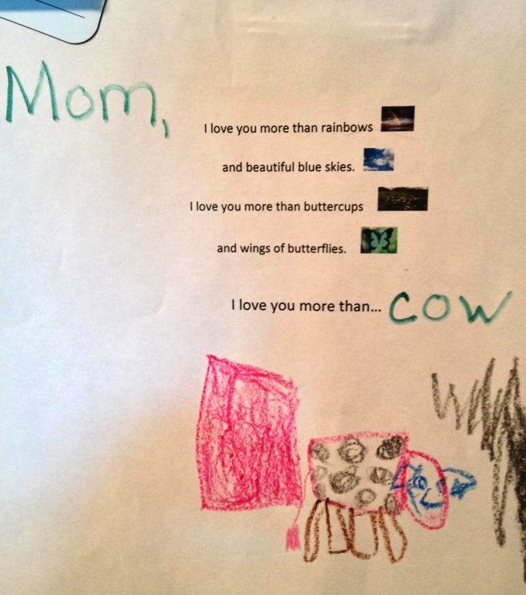 """I Love You More Poem: TYWKIWDBI (""""Tai-Wiki-Widbee""""): A Child Completes A Poem"""