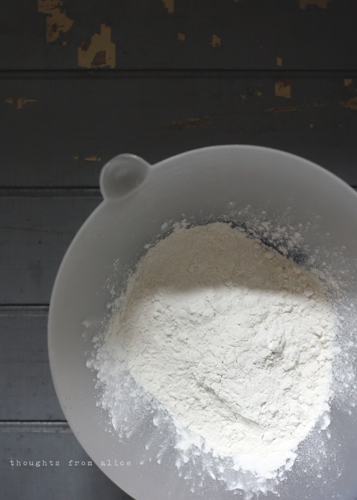 Banana bread dry ingredients combined