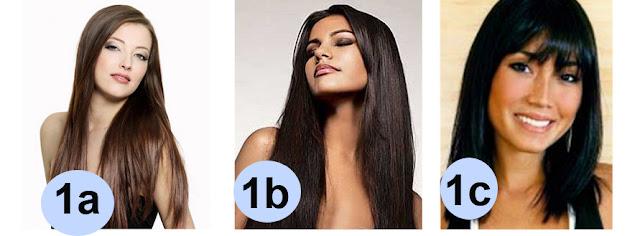 Tabela tipos de cabelo 1