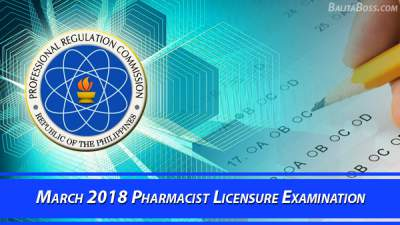 Pharmacist March 2018 Board Exam