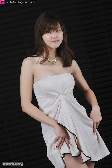xxx nude girls: Jung Se On - Strapless Mini Dress