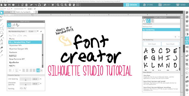 font creator, studio v4.2, silhouette fonts, silhouette font creator, silhouette america blog
