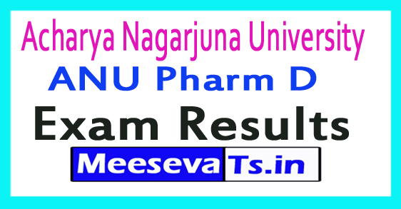 Acharya Nagarjuna University ANU Pharm D Exam Results 2017