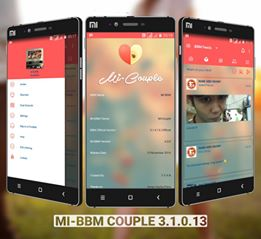 BBM MOD Transparan MI-BBM Tema Couple v3.1.0.13 APK