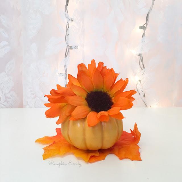 DIY Flower Pumpkin