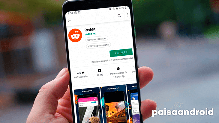 mejores aplicaciones reddit para android