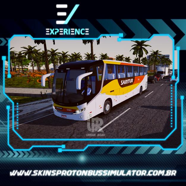 Skins Proton Bus Simulator Road - Comil Invictus MB O-500 RS Viação Saritur
