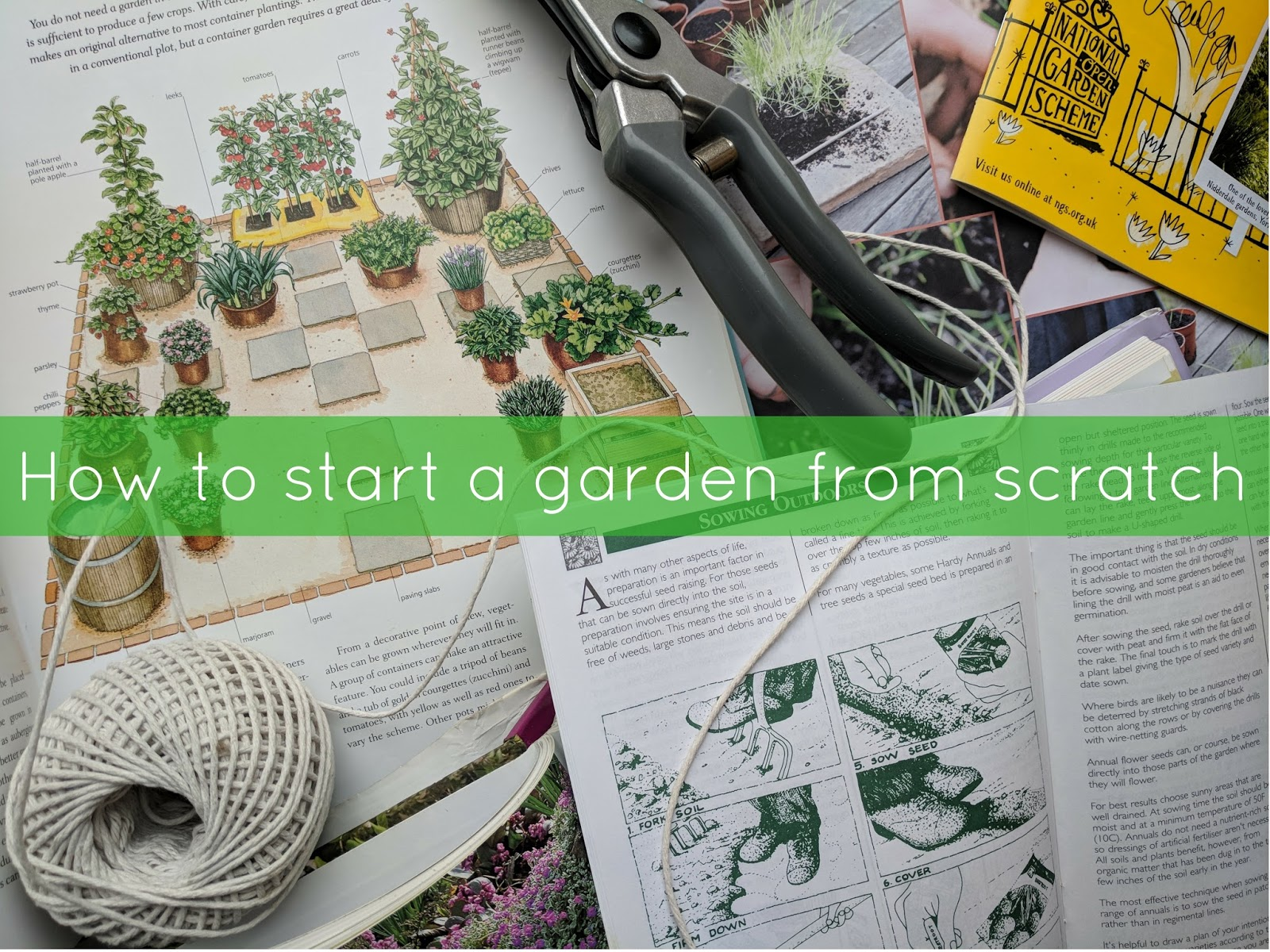 Jibberjabberuk for How to start a garden from scratch