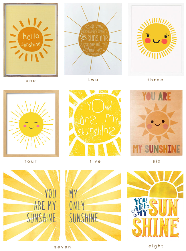 8 Sun Inspired Art Prints
