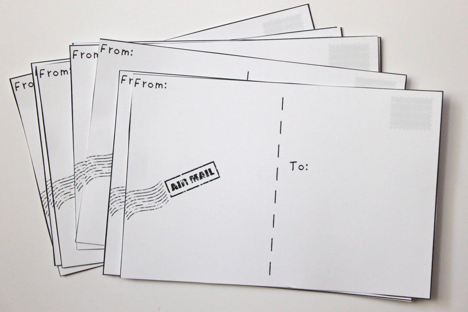 Make Your Own Postcards Free Printable