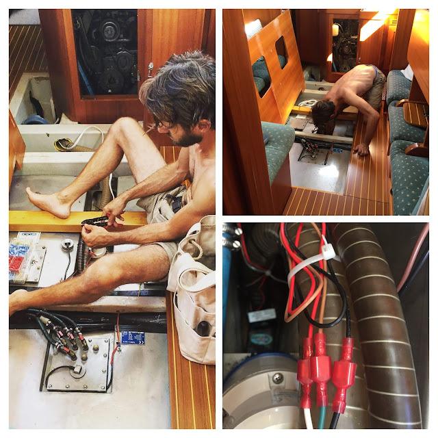 float switch, bilge, automatic pump, Hallberg Rassy 37 bilge