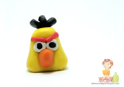 clay angry bird  yellow bird   handcrafts arts creative DIY