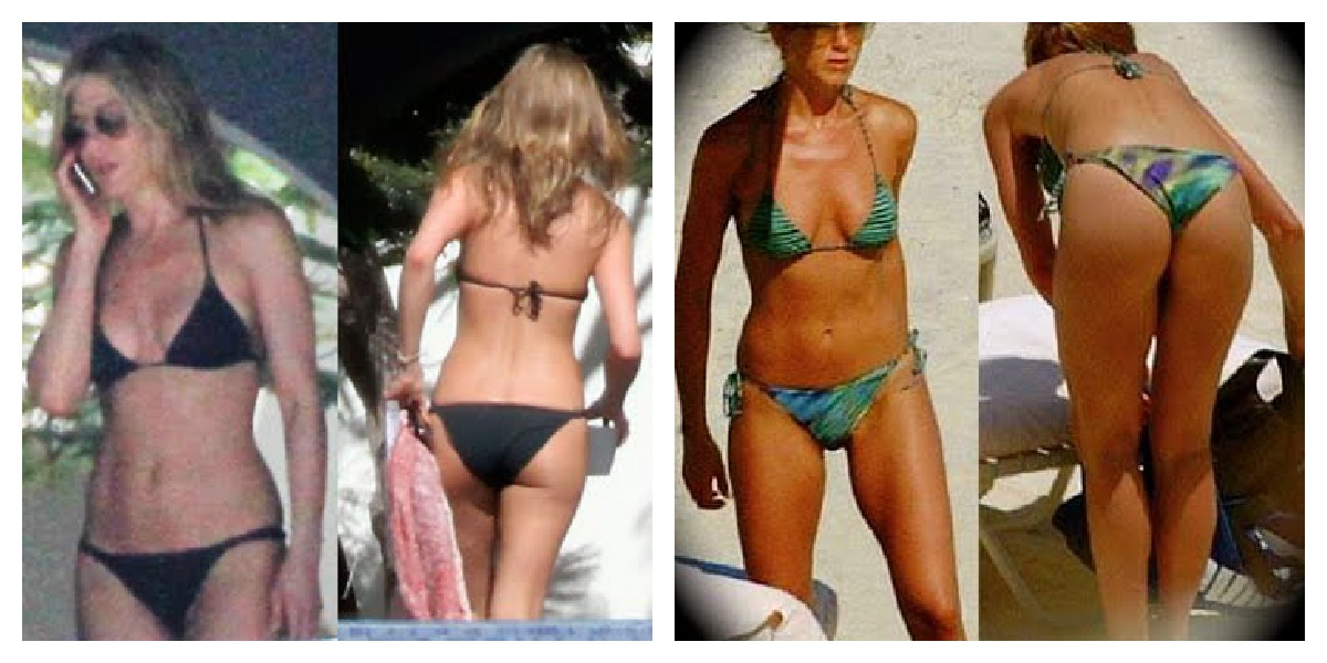 Jenifer aniston bending over in bikini