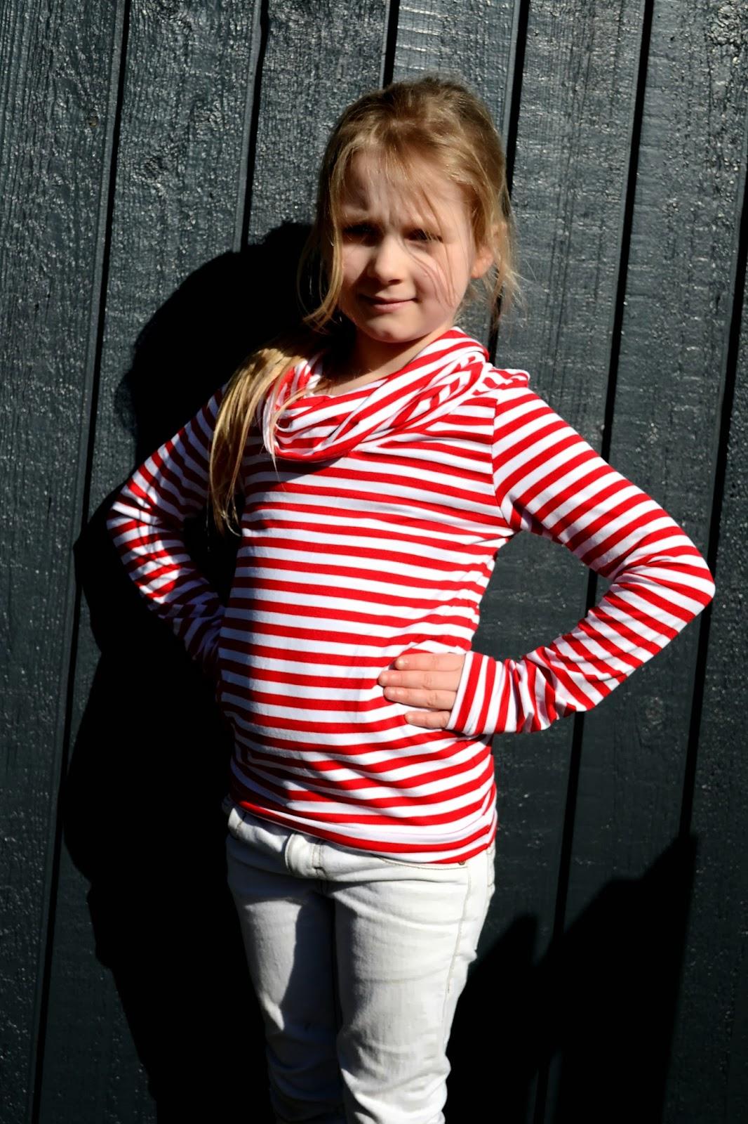 Bimaa stripes viscose jersey cowl neck