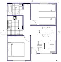 planos prefabricadas buin 42 mts2