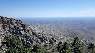 A view from the Guadalupe Peak mountain trail.