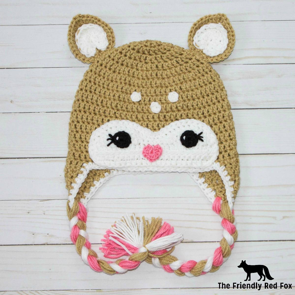 Free Crochet Little Deer Hat Pattern - thefriendlyredfox.com