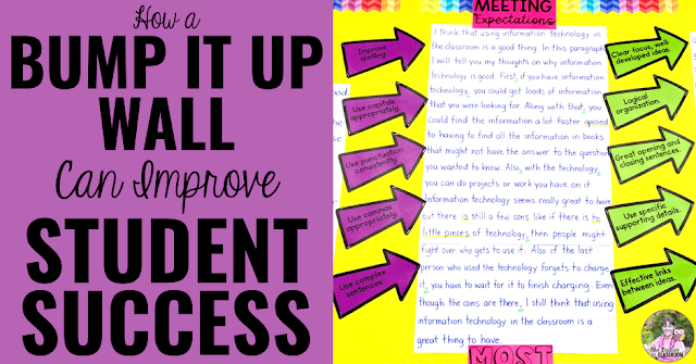 "Photo of bump it up wall with text, ""How a Bump It Up Wall Can Improve Student Success."""