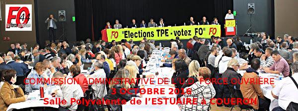 Commission Administrative élargie du 3 octobre 2016, à Couëron