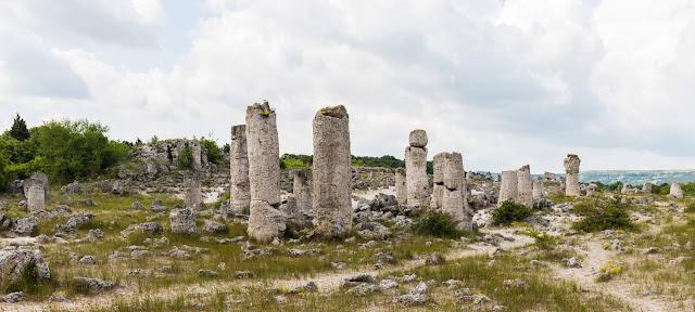 «Вбитые камни»  болгарский Побити камъни, «Каменный лес», «Диликташ»  от тур., dikili taş — вбитый камень,  «Побитые камни» — скальные образования в Болгарии, расположенные в 18 км от Варны по обе стороны от дороги Варна — София вблизи сёл Слынчево, Баново и Страшимирово и города Девня.  Распределены на большие и малые группы на площади 7 км².  Представляют собой каменные колонны высотой от 5 до 7 м (некоторые до 10 м), толщиной от 0,3 до 3 м разного сечения.  Колонны не имеют твёрдого основания, полые и заполнены песком.  Существует несколько гипотез их происхождения, которые можно объединить в две основные группы — органического и неорганического происхождения.  Первая из них объясняет возникновение колонн скоплением кораллов и водорослей; согласно второй их призматическая форма — результат выветривания горных пород, наподобие «Мостовой гигантов» в Северной Ирландии, или образования песчано-известковых конкреций. Чтобы сохранить уникальный объект, в 1937 году скалы были объявлены памятником природы.  Место стало культовым для многих древних народов.