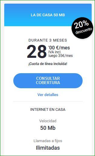 OFERTAS FIBRA YOIGO: TARIFAS PRECIOS SOLO FIBRA