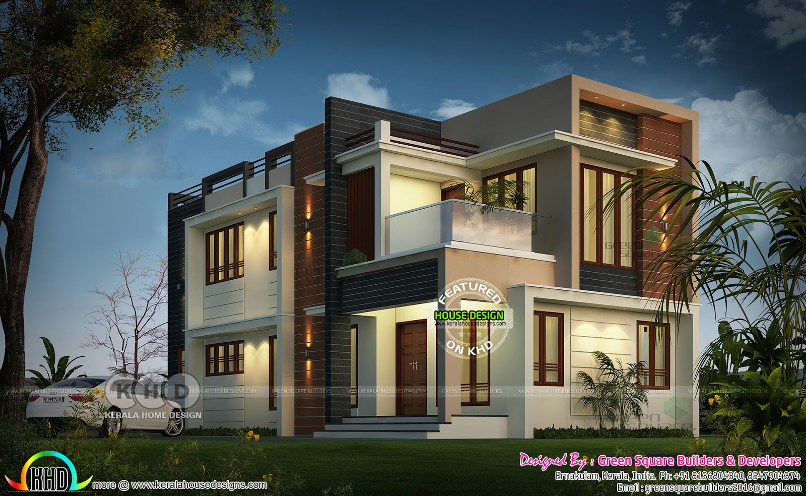 1934 Sq Ft 4 Bhk Modern Home Architecture Kerala Home Design