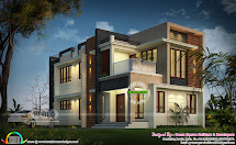 1934 Sq-ft 4 Bhk Modern Home Architecture - Kerala