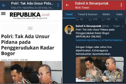 Polri: Tak Ada Unsur Pidana pada Penggerudukan Radar Bogor, Begini Komentar Menohok Dahnil Anzar
