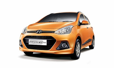 Hyundai Grand i10 orange colour front look