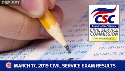civil service results march 2019