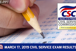 Region 10 Results: March 2019  Civil Service Exam | Prof & Sub-Prof #CSE-PPT