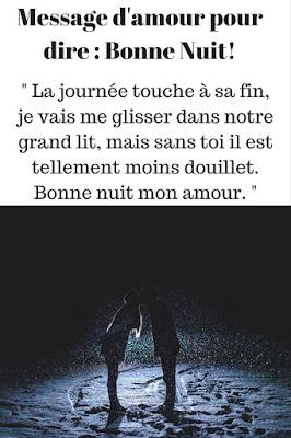 message bonne nuit amour