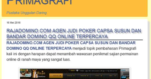 judi poker online terbaru