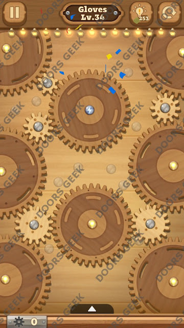 Fix it: Gear Puzzle [Gloves] Level 34 Solution, Cheats, Walkthrough for Android, iPhone, iPad and iPod