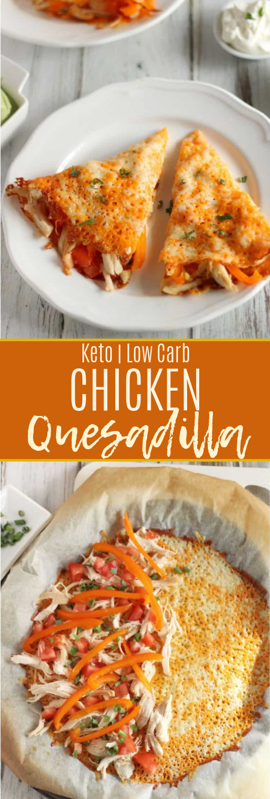 Keto Chicken Quesadilla #chicken #lowcarb