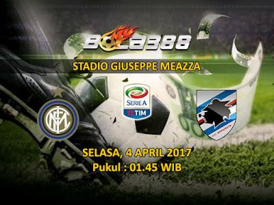 Situs Agen Tebak Skor Terlengkap - Prediksi Pertandingan Serie A, Internazionale vs Sampdoria 4 April 2017