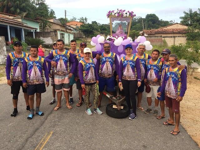 Romeiros de Ourém que caminharam a pé chegaram a Basílica Santuário na manhã desta sexta (11)