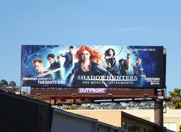 Shadowhunters Mortal Instruments series premiere billboard