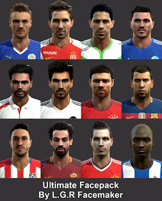 PES 2013 Ultimate Facepack By L.G.R Facemaker