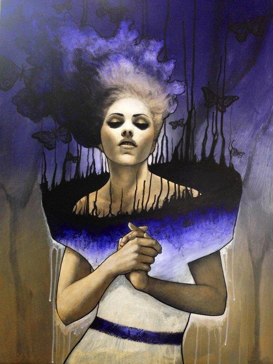 Heather McLean ilustrações pinturas surreais mulheres fantasia espiritualidade surrealismo