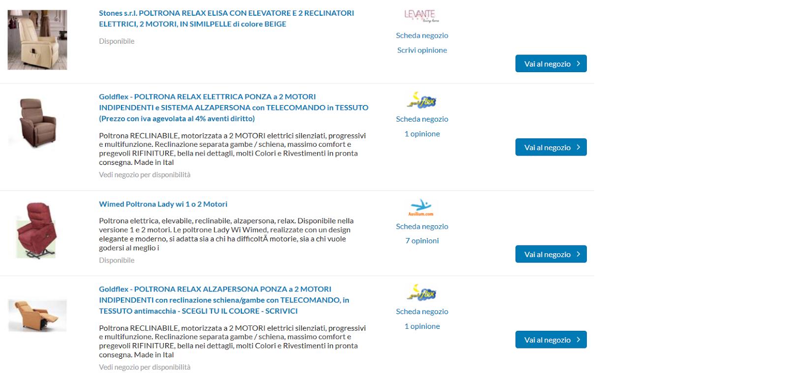 Opinioni su poltrone elettriche economiche online prezzi for Poltrone elettriche per anziani amazon
