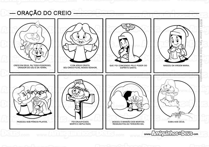 Top Oração do Creio desenho para colorir ~ Amiguinhos de Deus RC27