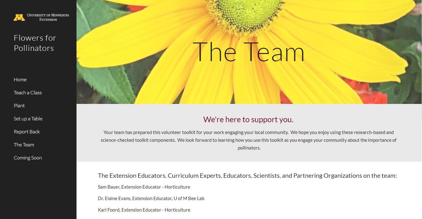 master gardener flowers for pollinators teaching package resource site