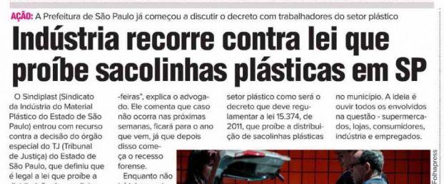 sao paulo pribe sacolas de plastico - Sacolinha plástica são vítimas do próprio sucesso