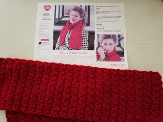 Free Crochet Pattern Berry Stitch Scarf