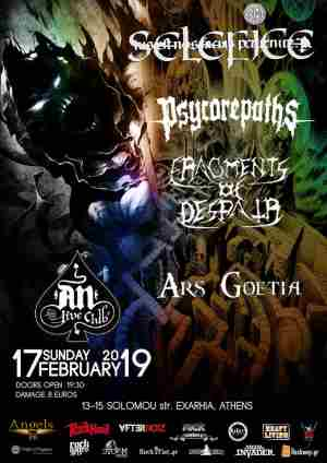 SELEFICE, PSYCOREPATHS, FRAGMENTS OF DESPAIR, ARS GOETIA: Κυριακή 17 Φεβρουαρίου @ An Club