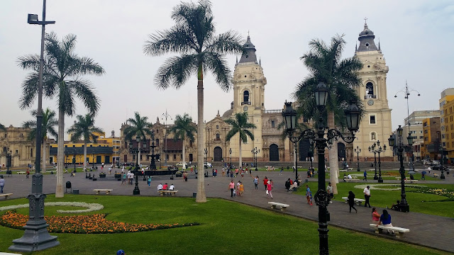 Lima, Peru, Melanie.Ps, The Purple Scarf, Travel, South America, Backpacking, Explore, Woman, Canadian, Tourist, Plaza Mayor, Catherdral
