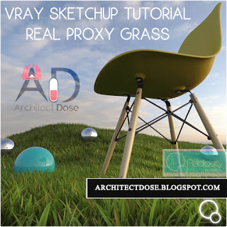 Vray Sketchup Tutorial - REAL PROXY GRASS