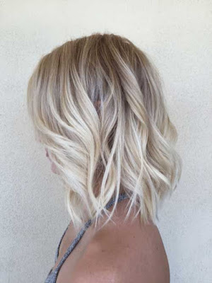 blonde curly bob lob hair style idea