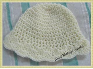Sweet Nothings Crochet, shelled hat, children headwear